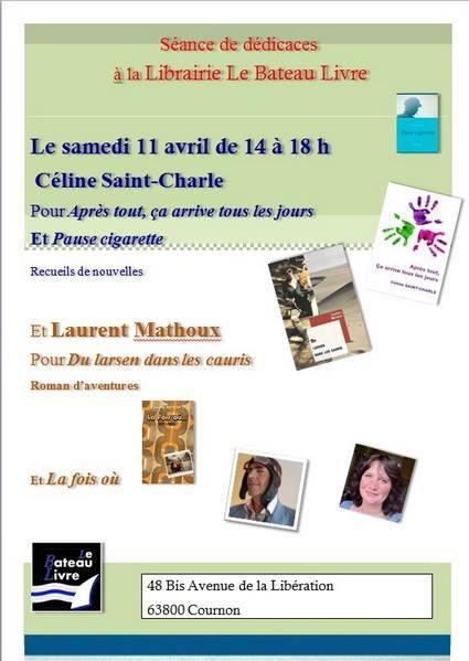 Dédicace Céline Saint-Charle